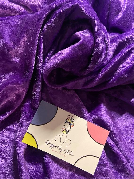 "The ""Crushed Velvet"" purple wrap"