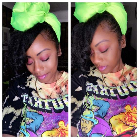 "Head wrap ""Neon satin"""