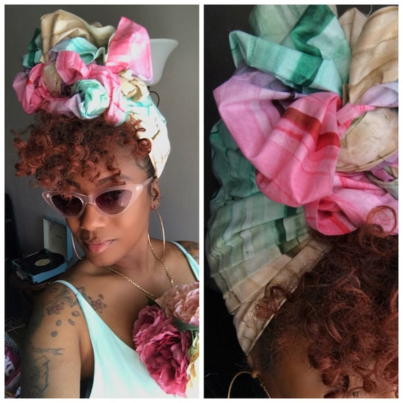 "Head wrap ""Ice cream"""