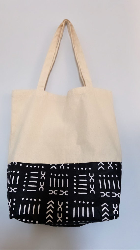 """The """"Tote bag"""" light weight Beige with pattern (symbol)"""