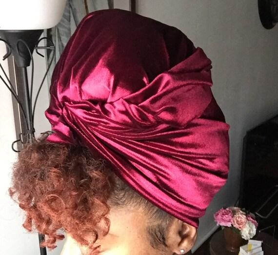"""The """"Velvet"""" solid hair wrap"""
