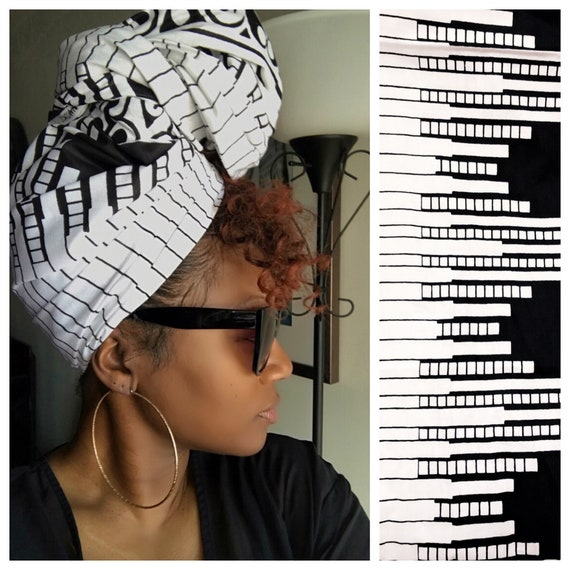 "Head wrap ""Piano"""