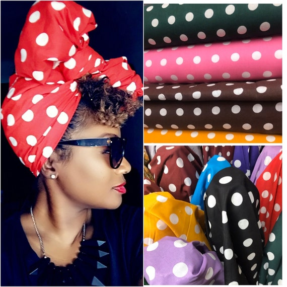 "Head Wrap The ""Polka Dot"" hair wrap"