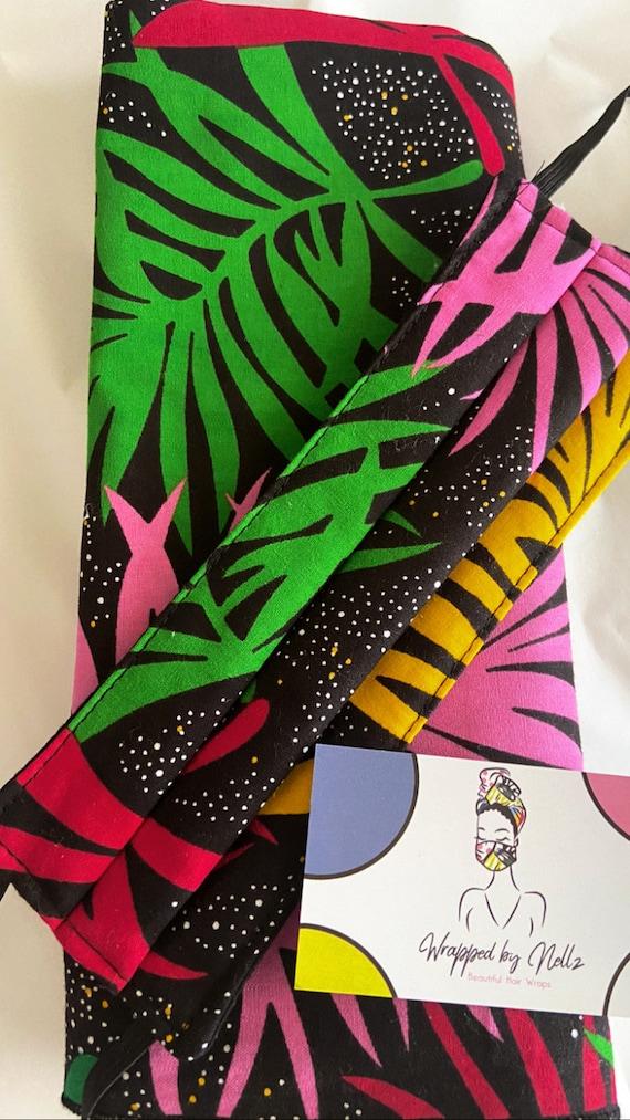 Wrap & Mask set (Colorful Palms)
