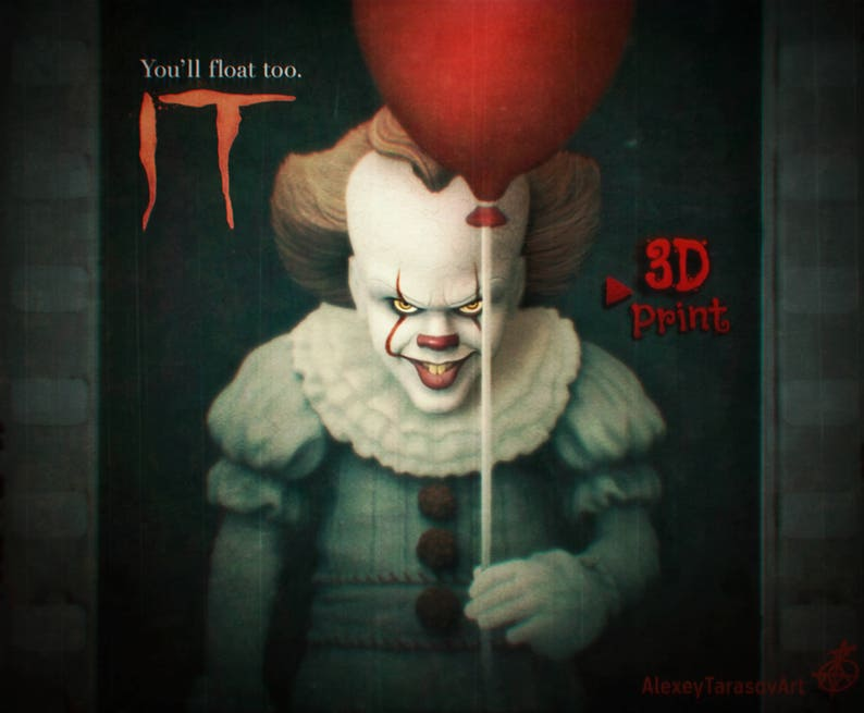 0ec38af8b4c IT Pennywise STL   OBJ Pack 3D printing model