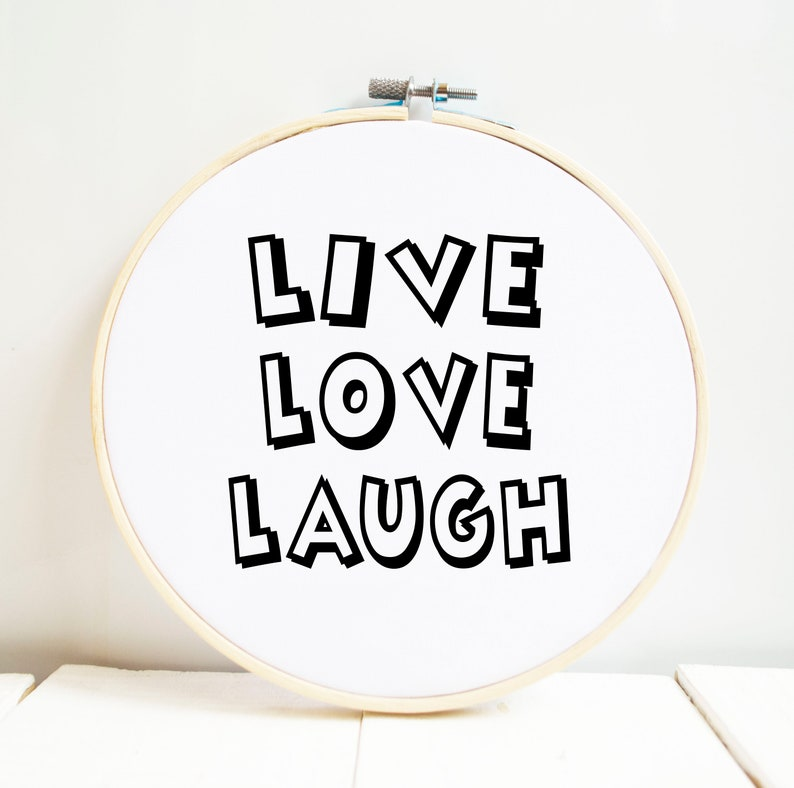 Live Love Laugh Hoop Art Quote Wall Hanging Romantic Bedroom Etsy