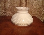Milk Glass Shade Hobnail Fenton for Small Parlor Sconce or Hanging Lamps