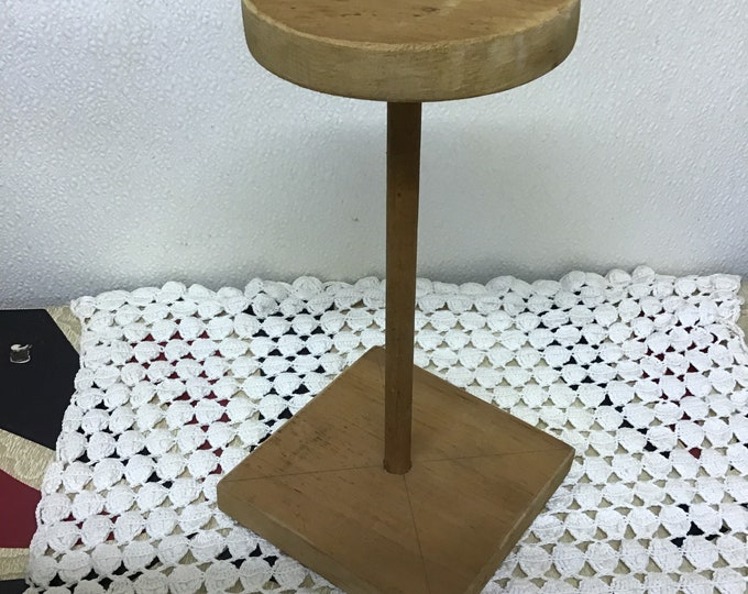 Wood Hat Stand Shabby Chic Mid Century Vanity Home Decor