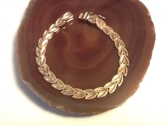 Gold Bracelet 10k Wheat Link Diamond Cut 9 8 Grams 8 Etsy