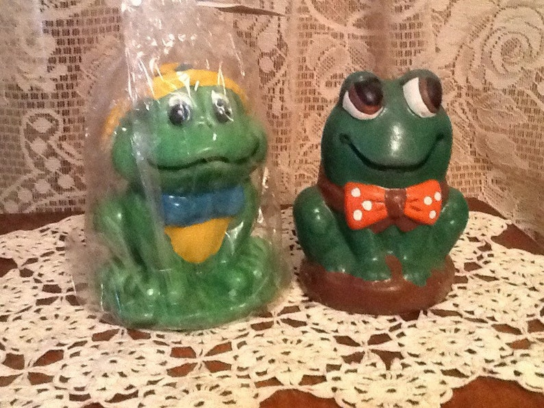 Frog Candles Funny 1970\u2019s Novelty Candles Cute Frog Collectibles