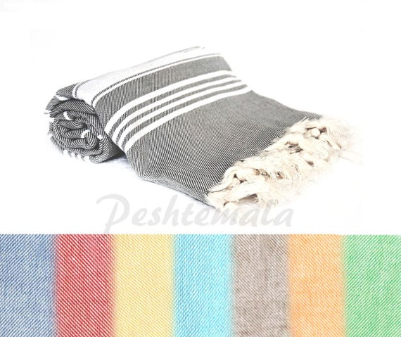 Stripe Turkish Towel Peshtemal Beach Towel Turkish Bath Etsy