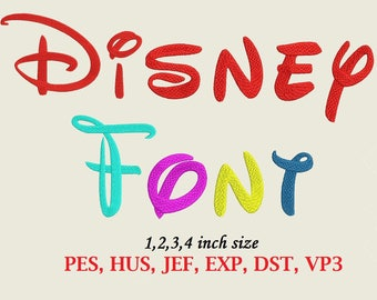 DISNEY Font Embroidery Design - 4 sizes instant download