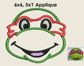 Ninja Turtle Applique Design - 4x4, 5x7 instant download