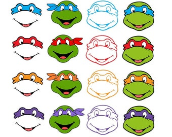 Ninja Turtles svg, 16 Ninja Turtles Cricut files, Birthday, SVG files for Cricut, SVG files for Cameo, SVG files