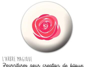 Fancy 25 mm 753 ref beige rose flower cabochon