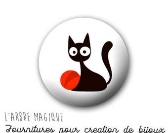 2 cabochons craft cat meow 20/18/16/14/12 mm glass choice-ref 818