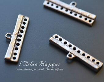 4 connectors MULTISTRAND bracelet silver color 10 connections