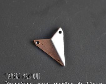 4 chevron triangle silver metal fancy connectors