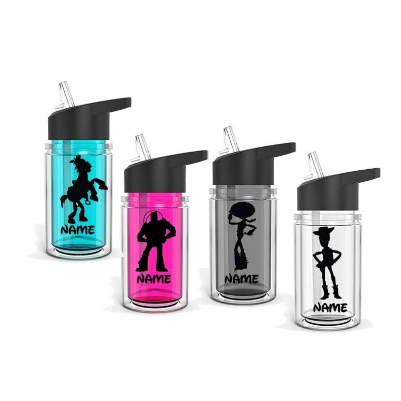 Toy Store Theme Personalized 10 oz Double Wall Kid/'s Sport Bottle