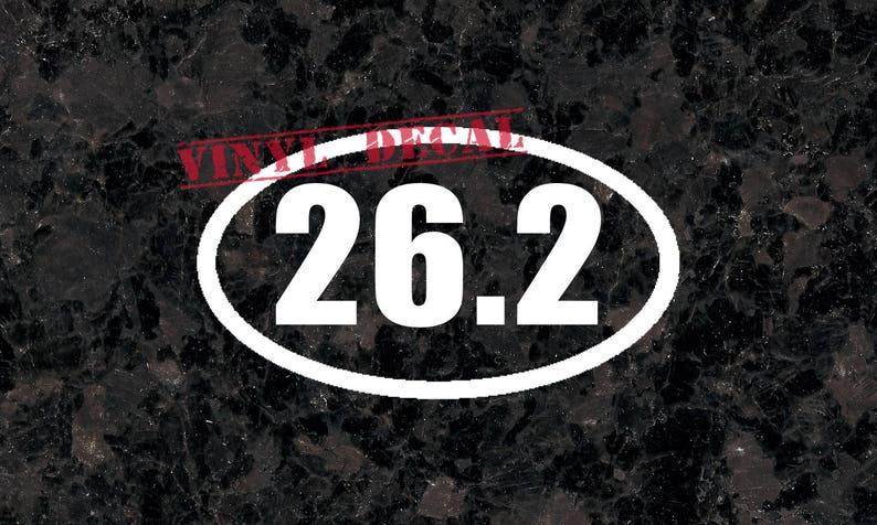 Marathon 26.2 Vinyl Car Decal