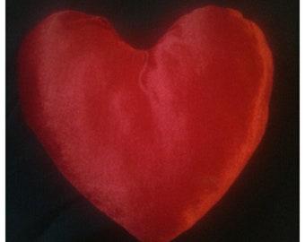 Cushion velvet heart