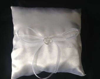 satin wedding ring cushion