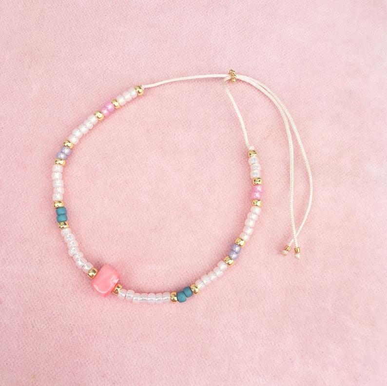 Delicate Bracelet in Pastel Gold Silver image 0