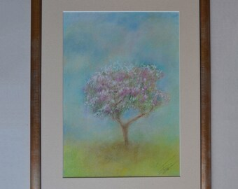 Spring Original Soft Pastel Painting With Frame