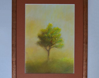 Summer Original Soft Pastel Painting With Frame