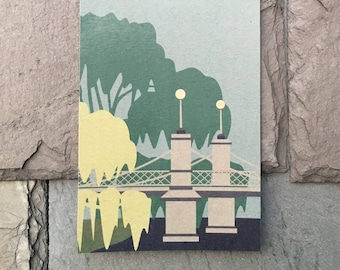 Boston Cityscape // Public Garden // Note Card