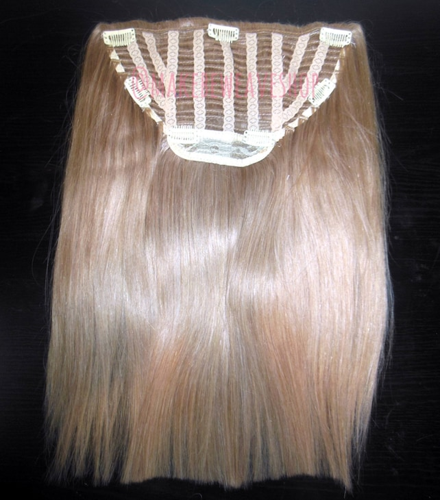 14 100 Russian Remy Human Hair One Piece Half Wig Clip Etsy