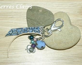 "Key ring / purple bag charm ""Liberty Pepper"""