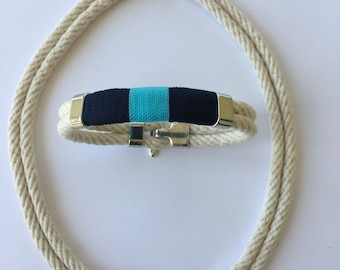 Nautical Rope Bracelet and Necklace Set
