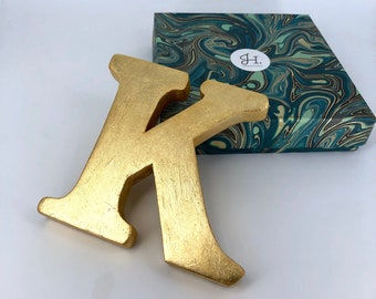 Deluxe gilded letters,  wooden letters entirely handcrafted and decorated with gold leaf