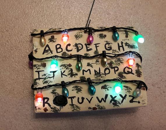 Stranger Things Christmas Lights.Stranger Things Ornament Alphabet Light Wall Stranger Things Gift Christmas Lights Eleven Upside Down Friend Dont Lie Christmas Ornament 011