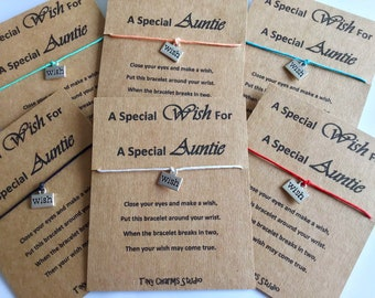 Auntie Wish Bracelet Special Friendship Gift For Birthday Keepsake