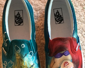 bdb5919d0f6c24 Hand Painted Little Mermaid Shoes