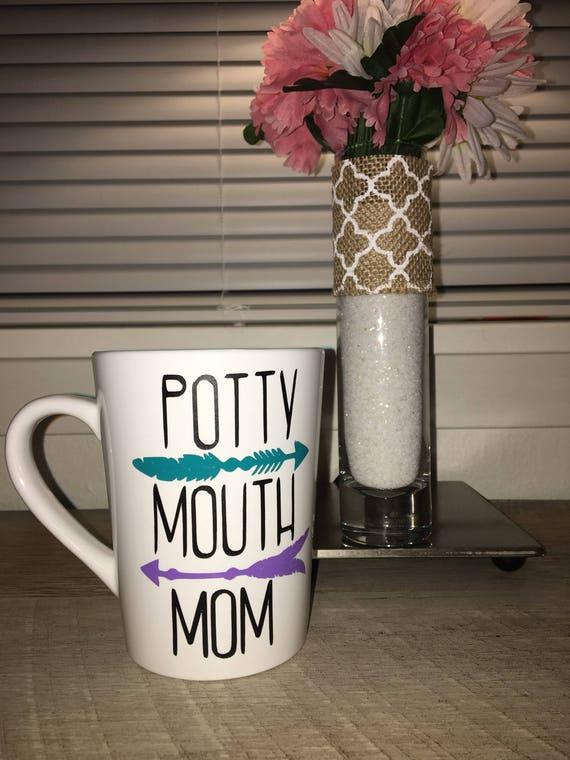 Potty Mouth Mom Coffee Mug Tea Cocoa Potty Mouth Mom  94aaf28ac