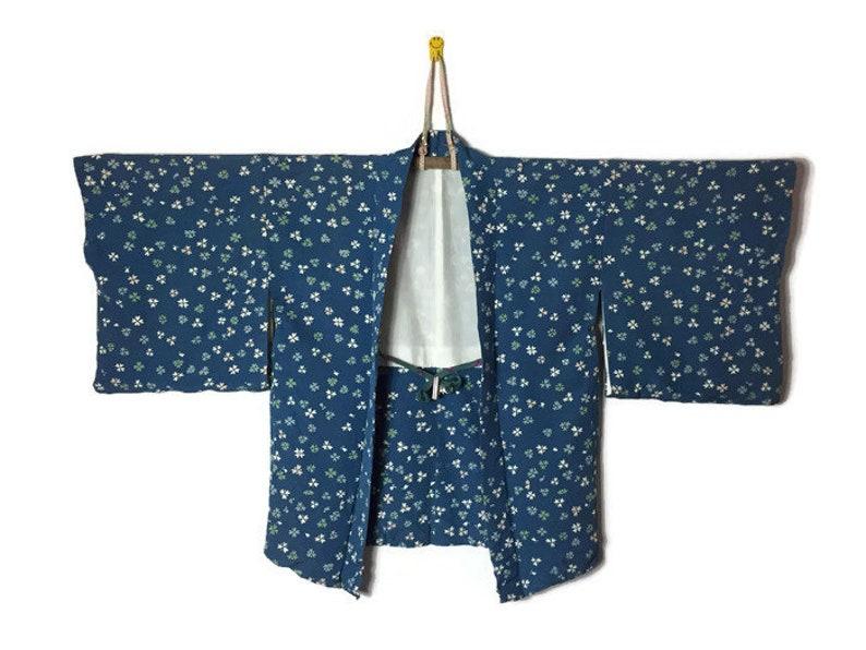 0ac2c1bba68 Vintage Japanese Haori Kimono Happi Dochugi Uppawari Silk