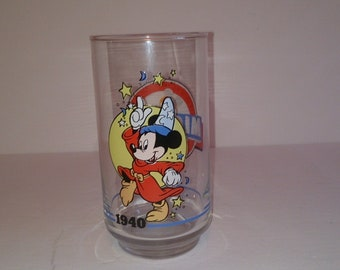 Disney Mickey Mouse Anniversary 1940 Glass
