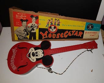 1950s Vintage Mickey Mouse Club Mousegetar Guitar Disney Mattel Jimmie Dodd