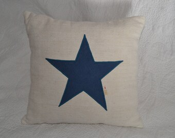 Vintage fabric with star cushion