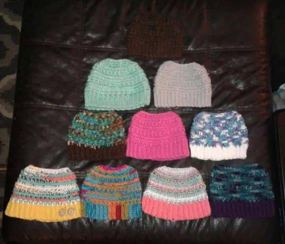 Katniss Messy bun hat  c7c018bfb67