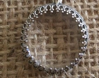 Magnifying Glass on Short Chain Sterling Silver by Thimbles by TJ Lane