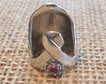 Ribbon Thimble with Gem Open Nail