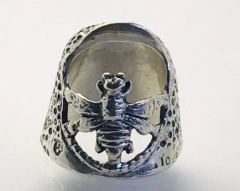 Bee Thimble Open Nail Sewing Thimble by TJ Lane