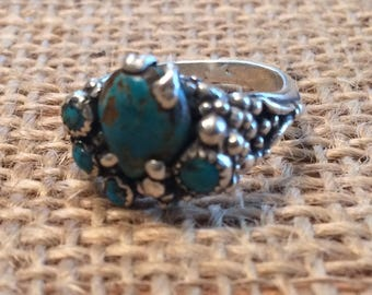 Turquoise Ring by Thimbles by TJ Lane