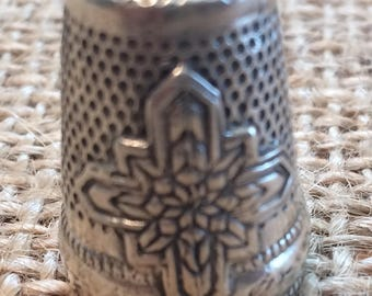 Jinny Beyer Closed Top thimble Sterling Silver Sewing Thimble by TJ Lane