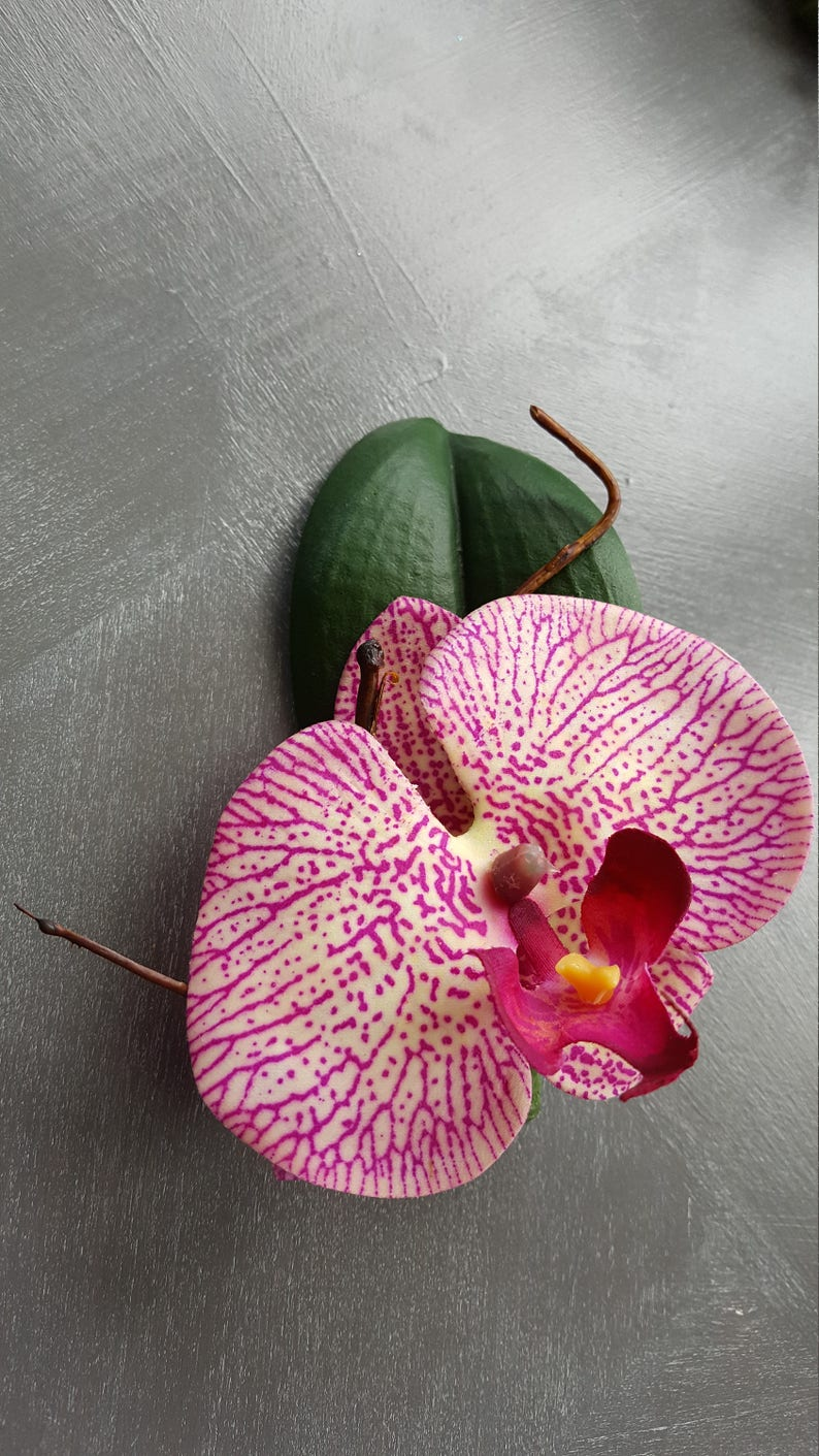 Silk Orchid boutonniere