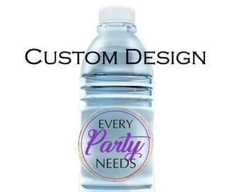 Custom Design Bottle Label -- Digital File